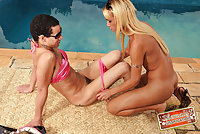 Danielly Bionda With Her Sissy Boy Outdoors