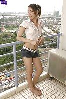 Asian cute shemale posing