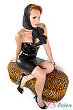 Frisky Evellin Rangel in latex dress
