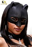 Catwoman shemale is crazy about her dick