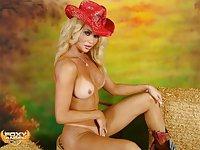Charming Foxy in a cowboy hat