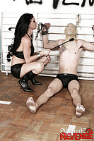 Male slave gets whipped