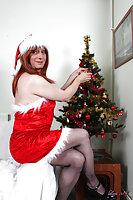 Christmas Lady Wanking