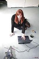 Redhead In Stockings Jerking Dick Webcam