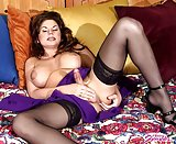 Pretty Brunette Tranny Jerking In Stockings