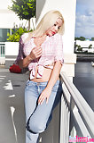 White Haired Transsexual In Jeans