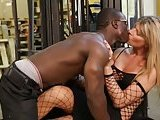 Hot blonde fucked by black bloke