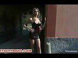 Italian Blonde Slut Dominated By Hot Tranny
