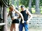 Horny blonde Tslut outdoor drilling