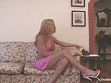 Teen blonde TS has fun