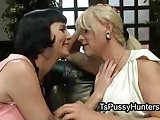 Super tempting shemale and her lover girl act