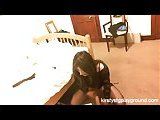 Bound crossdresser hot solo