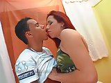 Oral and anal pleasure from a redhead tranny