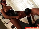 Italian tgirl dominated over lucky guy