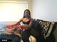 Ebony Tgirl Sucks Prick