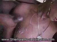 Flat chested Tgirls ramming