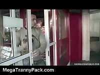 Sucking a Tranny in Public