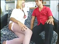 Blonde slut in mutual scene
