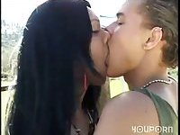 Interracial sex outside