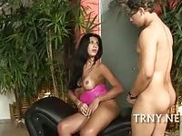 Cute tranny is brutally fucked