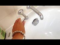TS Jelissa Jaconi takes a bath