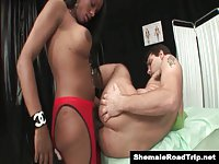 Hung Brazilian Tgirl ass fucks her man
