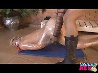 Leticia Freitas dominates a naked guy