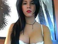 Sexy Latina with stiff cock