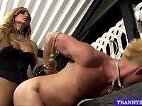 Tranny mistress gives hardcore anal
