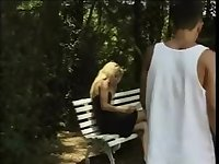 Gorgeous teen TS fucked in the park