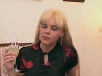Joanna Jet at threesome with guy and with a titty bitch