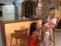 Sexy Blonde Fucks Naughty Brunette