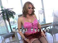 Tgirl babe Hazel Tucker in hardcore ass banging and cum play