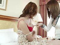 Asian teen shemales twosome