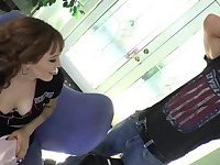 Transbabe Kylie Maria pleases her lover in lovely anal scene
