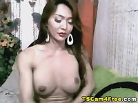 Busty Shemale Cam Jerking