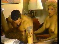 Vintage surprise with a skilfl Tgirl