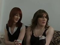 2 crossdressers have fun