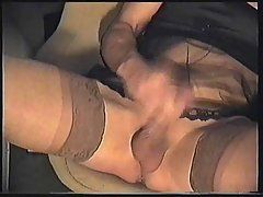 Nylon Transvestite Jerking Off & Cumming at sexodirectory.com