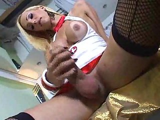 Ladyboy with big dick solo