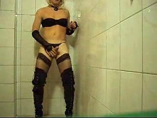 Crossdresser Fetishist Teasing On Cam