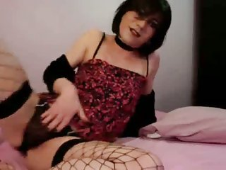 Nice Webcam Solo By A Prurient Tgirl