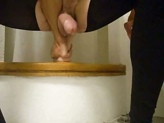 Homemade dildo riding