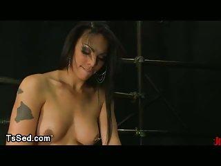 Pierced nipples tranny fucks tattooed guy