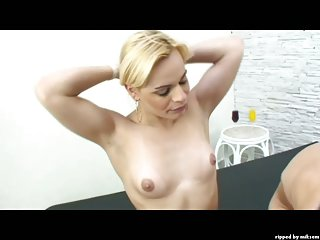 Blonde Shemale Hottie Fucked By Stud