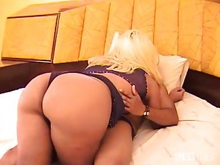 Blonde shemale loves to feel cock in ass