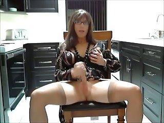 Amateur hot cock stroking