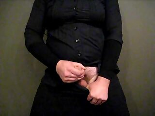 Chubby Crossdresser Masturbating