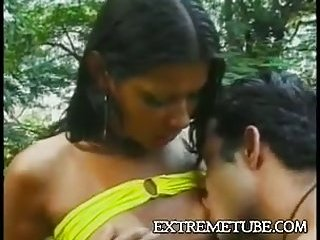 Outdoor blowjob & anal fuck