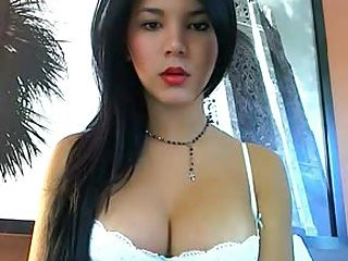 Sexy Latina with stiff cock